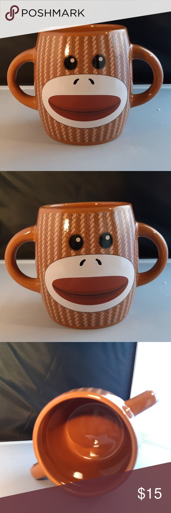 Sock Monkey Coffee Mug 16 oz Adorable Sock Monkey Coffee/Tea Mug Cup  Excellent condition Kitchen Coffee & Tea Accessories #sockmoneky Sock Monkey Coffee Mug 16 oz Adorable Sock Monkey Coffee/Tea Mug Cup  Excellent condition Kitchen Coffee & Tea Accessories #sockmoneky