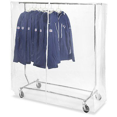 56 X 60 X 20 Clear Vinyl Clothes Rack Cover By Uline 40 00