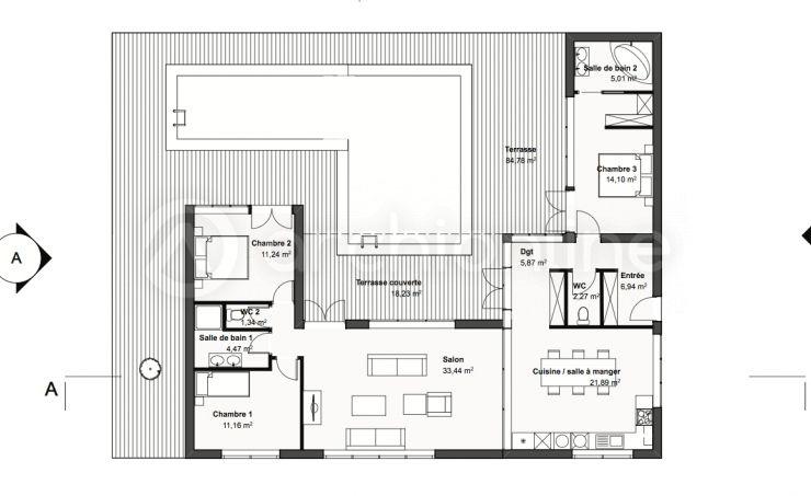 Maison Muppet - Plan de maison Moderne par Archionline maison