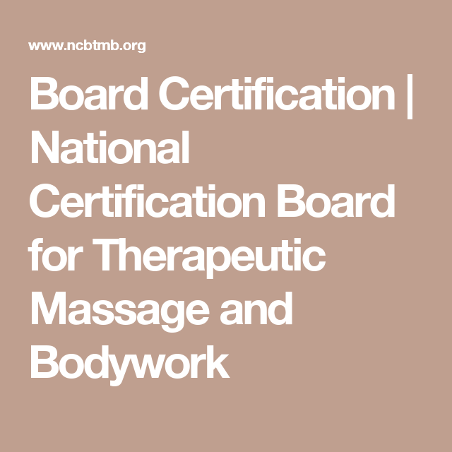 Board Certification National Certification Board For Therapeutic