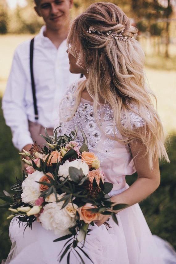 Wedding hair band Wedding headpiece Bridal hair band Boho hair accessories Bridal hair accessories Wedding hair accessories Bridal hair vine