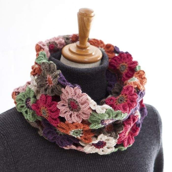 Anemone Cute Snood kit from hobbyra-hobbyre, 2200 yen | FIORI ALL ...