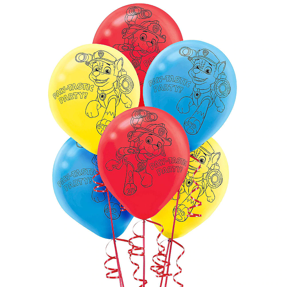 Paw Patrol Balloons 6ct Party City Paw Patrol Balloons Balloons Paw Patrol Birthday