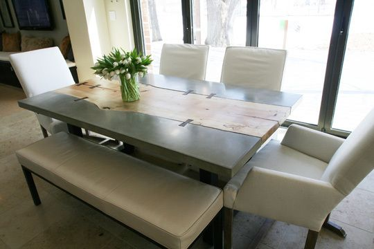 InboundThread DECOR Wood  Concrete Dining Table Love The - Concrete dining room table