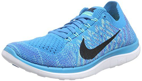 quality design 6bb5c d803d Nike Women s Wmns Free 4.0 Flyknit, BLUE LAGOON BLACK-GAME ROYAL, 7