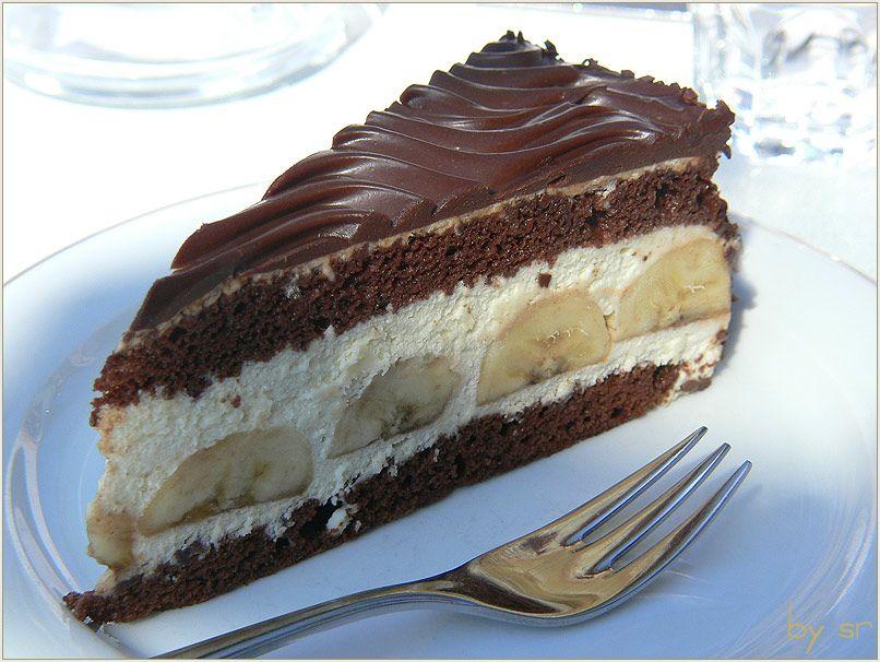 Bananen schokoladen pudding kuchen