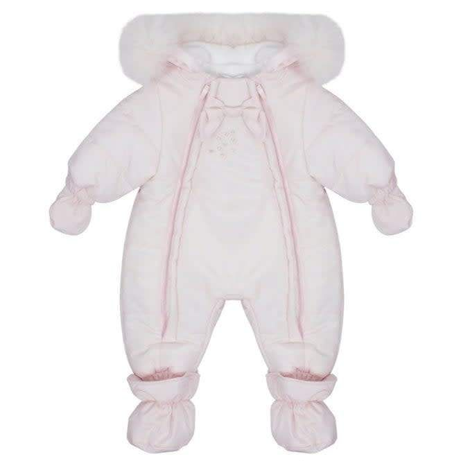 fb789c178 Bimbalo Dual Zip Fur Luxury Snowsuit Baby Pink | Products | Snow ...