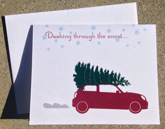 Mini Cooper Christmas Card 10pk Intro Special Products I Love