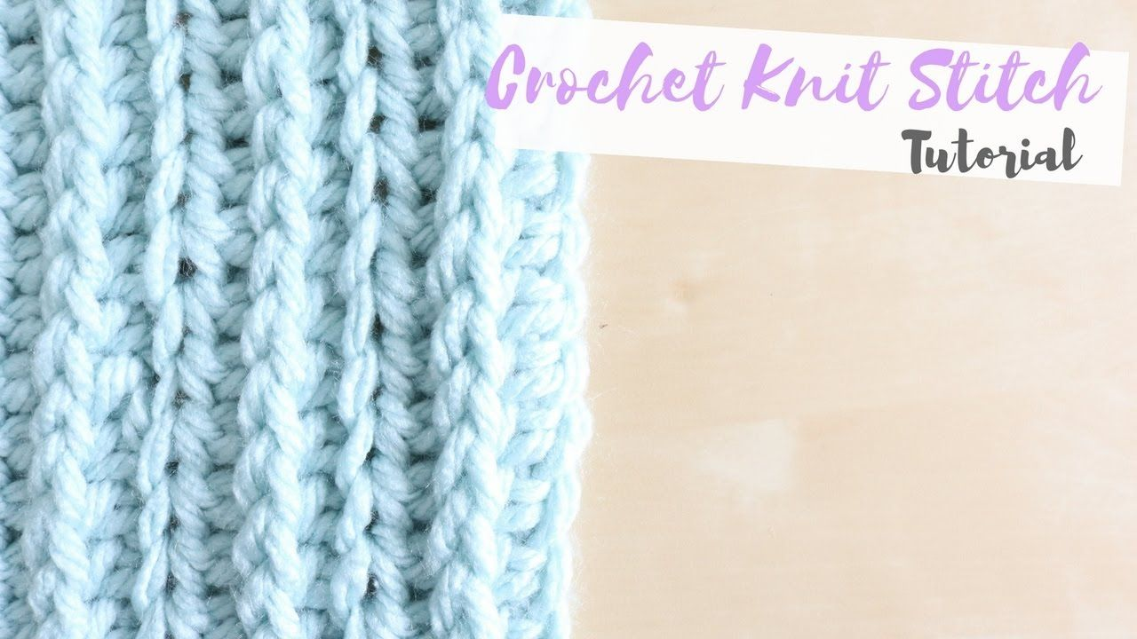 ♥ Crochet Knit Stitch Tutorial - I was thinking this would be ...