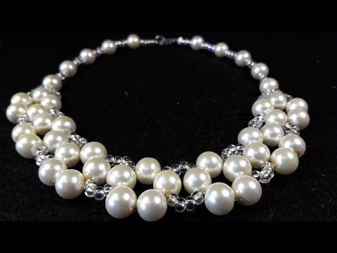 adf4e57e4379 Collar de Perlas y Misangon...Clase  20!!! - YouTube