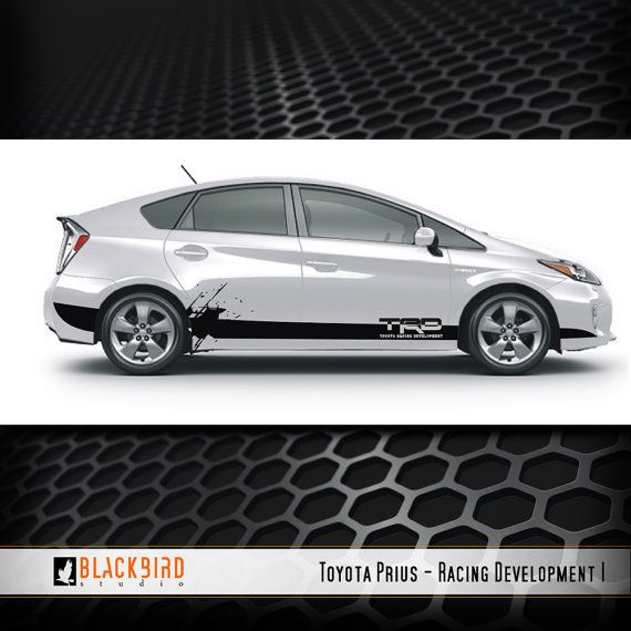 Custom Toyota Prius Decal Designed And Fitted By Blackbirdstudios1
