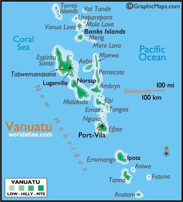 Vanuatu Mapa Politico Del Mundo Mapa Paises Y Islas