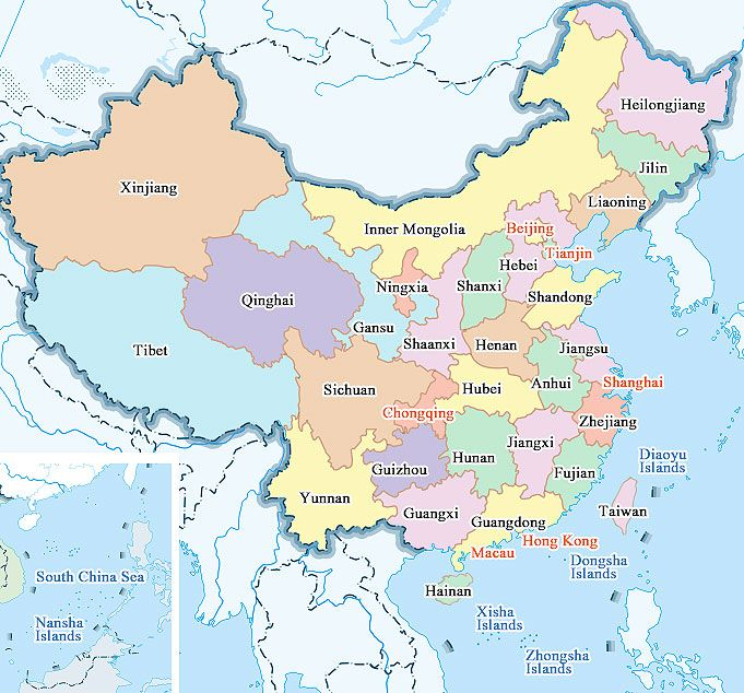 Map of china provinces and cities china has 34 provincial level map of china provinces and cities china has 34 provincial level administrative units 23 provinces 4 municipalities beijing tianjin shanghai gumiabroncs Gallery