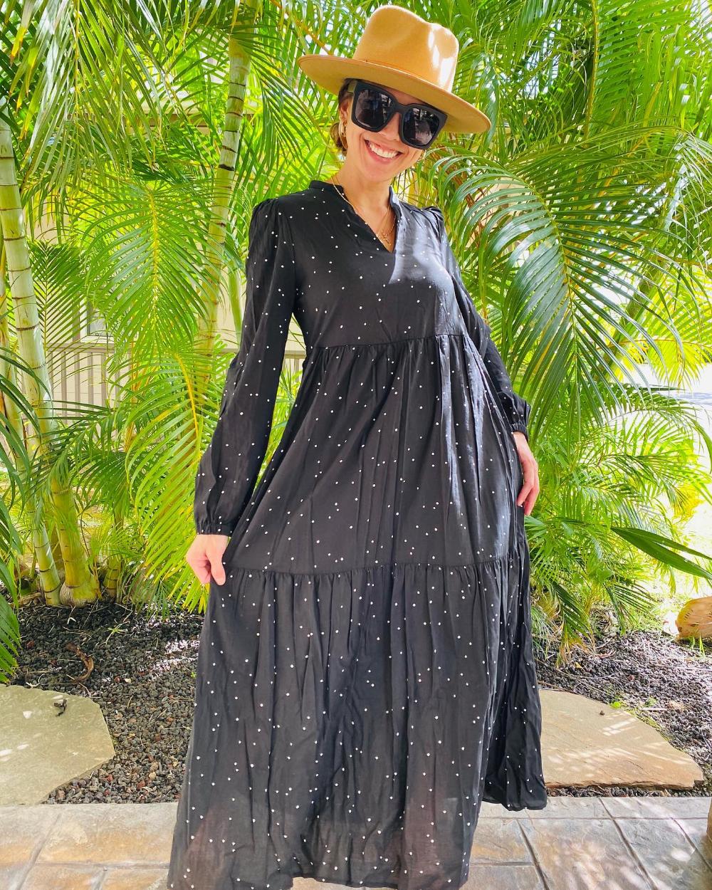 Women S Long Sleeve Tiered Flowy Dress Who What Wear Target Flowy Dress Women Long Sleeve Dresses [ 1250 x 1000 Pixel ]