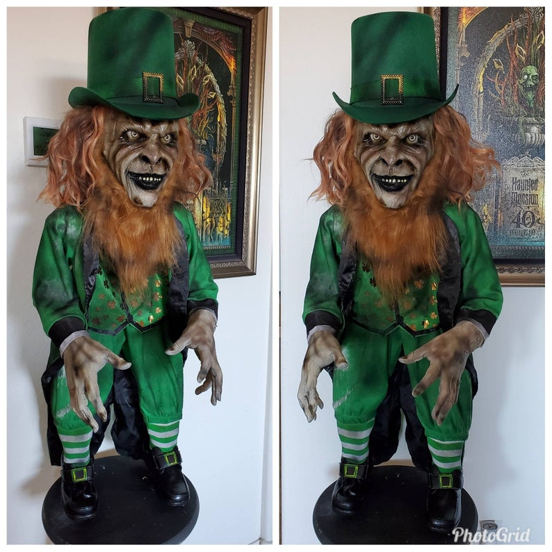 Leprechaun Inspired Free Standing Prop Four Foot Tall With Hat Etsy Leprechaun Movie American Werewolf In London Creepy Dolls