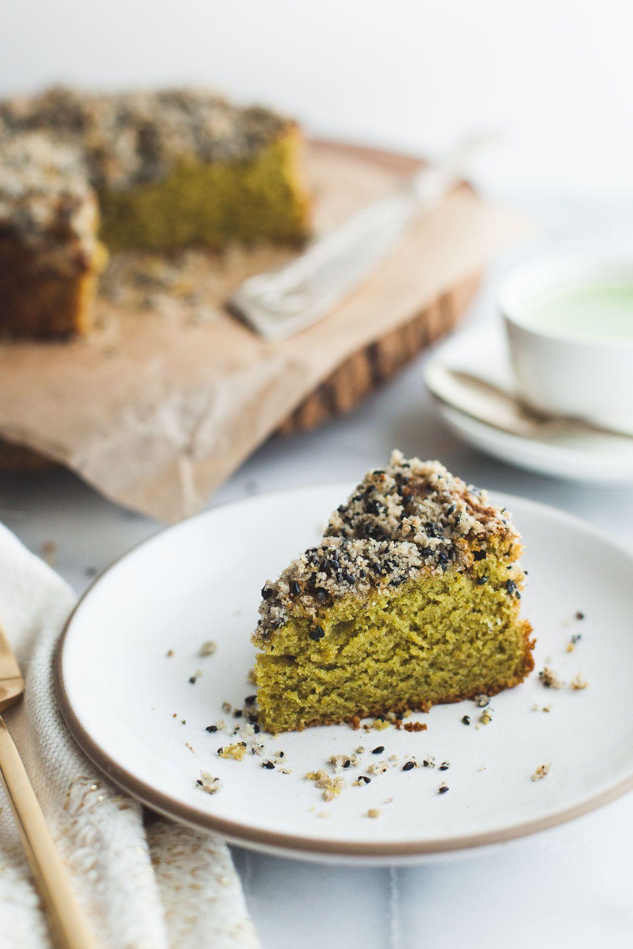 검은콩 소보루 녹차 케이크