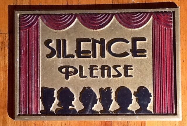 Movie Theater Wall Decor vintage movie theater style silence please sign for home theater