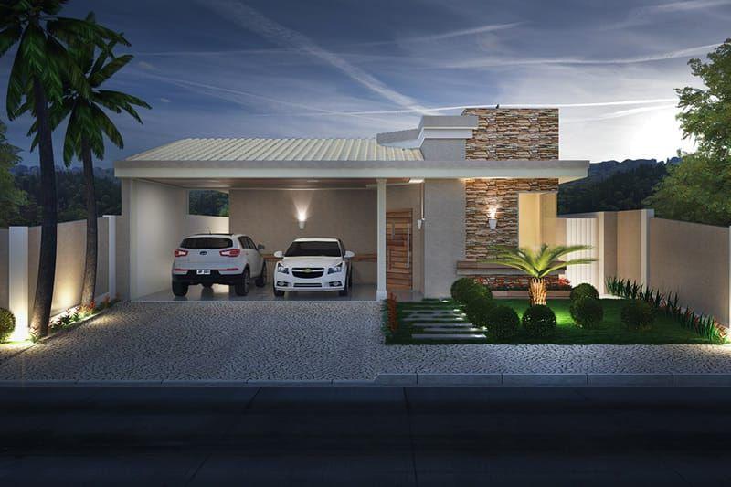 Planta de casa com telhado aparente casas casas for Fotos de casas modernas com telhado aparente
