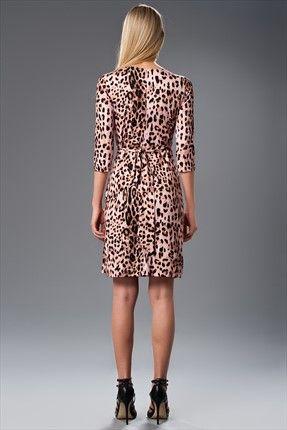 Pembe Leopar Elbise Mlwss142380 Elbise Moda Stilleri The Dress