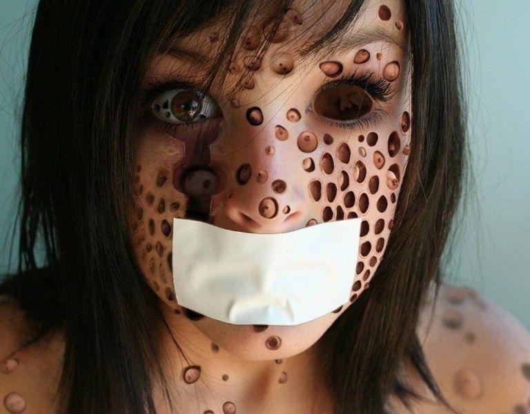 Home Trypophobia Trypophobia Skin Halloween Face Makeup