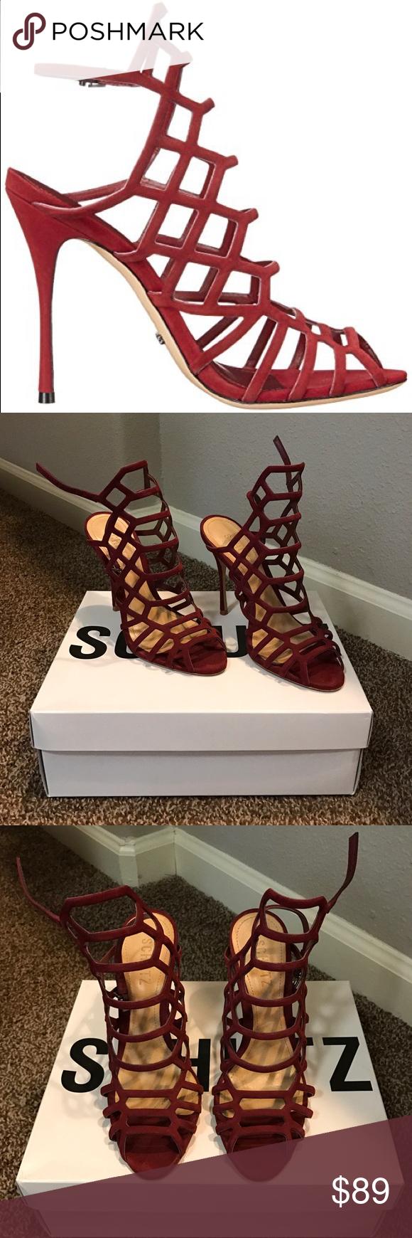 "Schutz Juliana Heels Gorgeous dark red Schutz heels!! About 4"", super cute, comfortable. Worn 3-4 times. In great condition! True to size SCHUTZ Shoes Heels"
