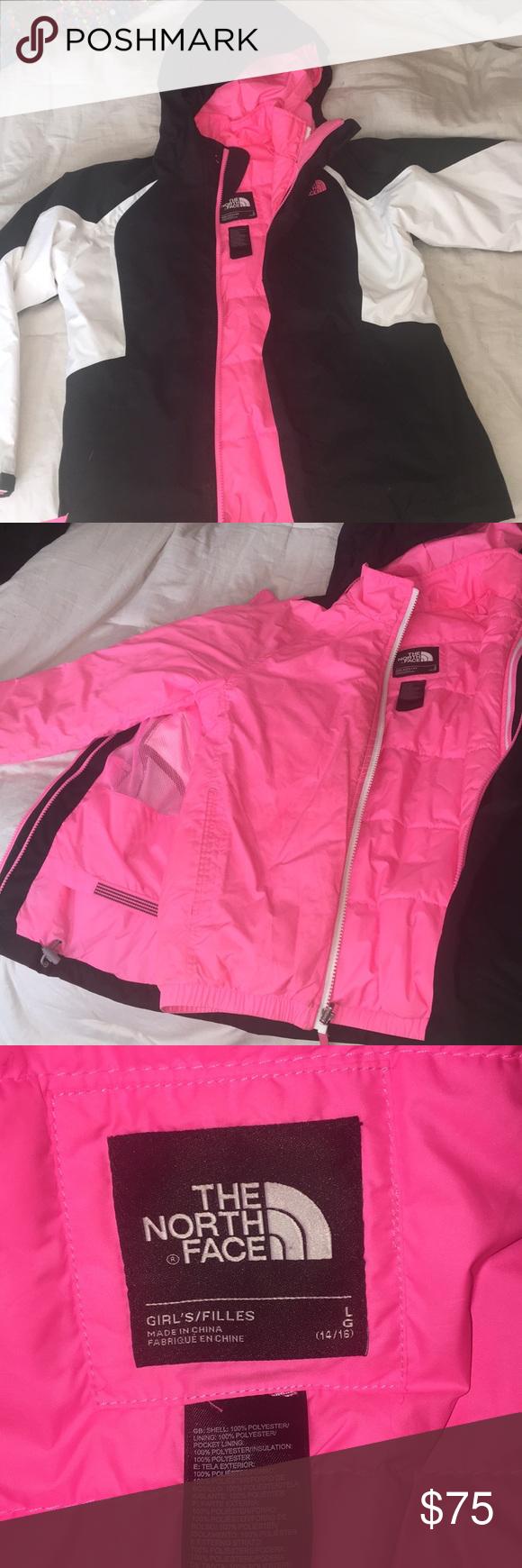 Girls North Face 2 In 1 Ski Jacket North Face Girls Winter Jackets Ski Jacket [ 1740 x 580 Pixel ]