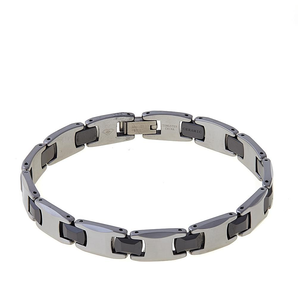 70d9078cb459c Men's Tungsten and Ceramic Link 8-1/2 | Products | Bracelets for men ...