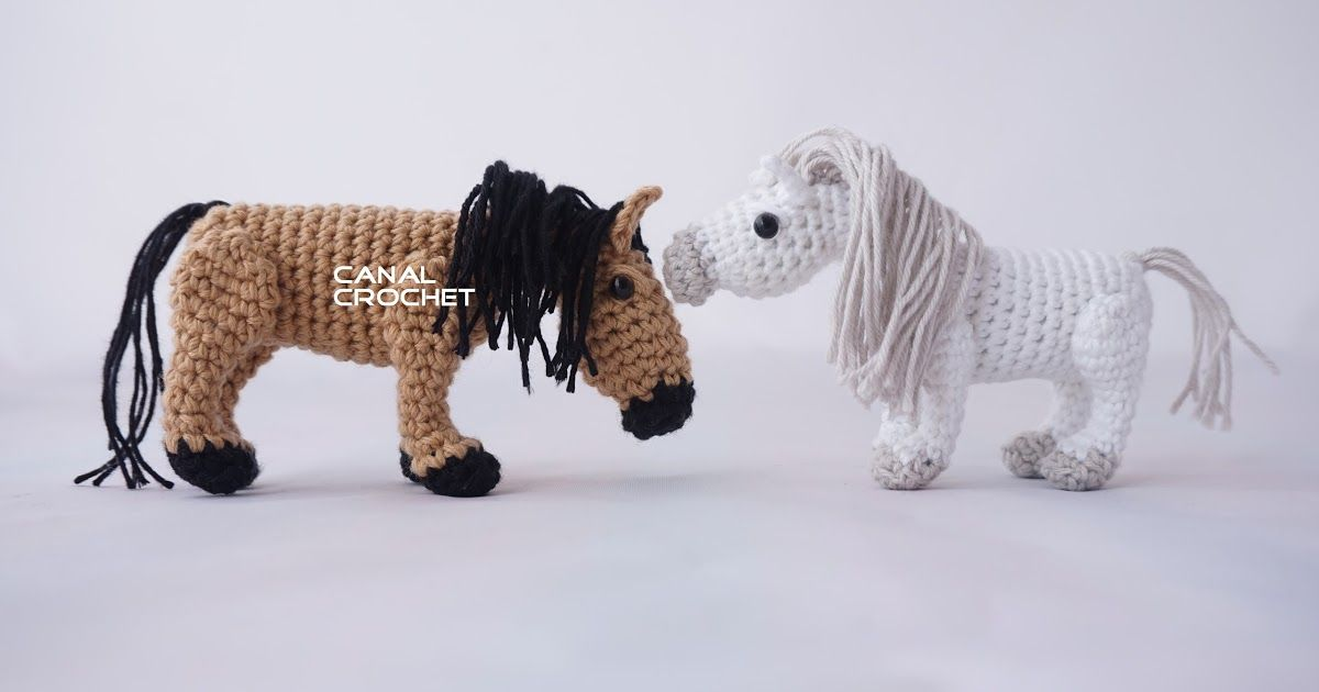 CANAL CROCHET: Caballo amigurumi tutorial Horse | amigú | Pinterest ...