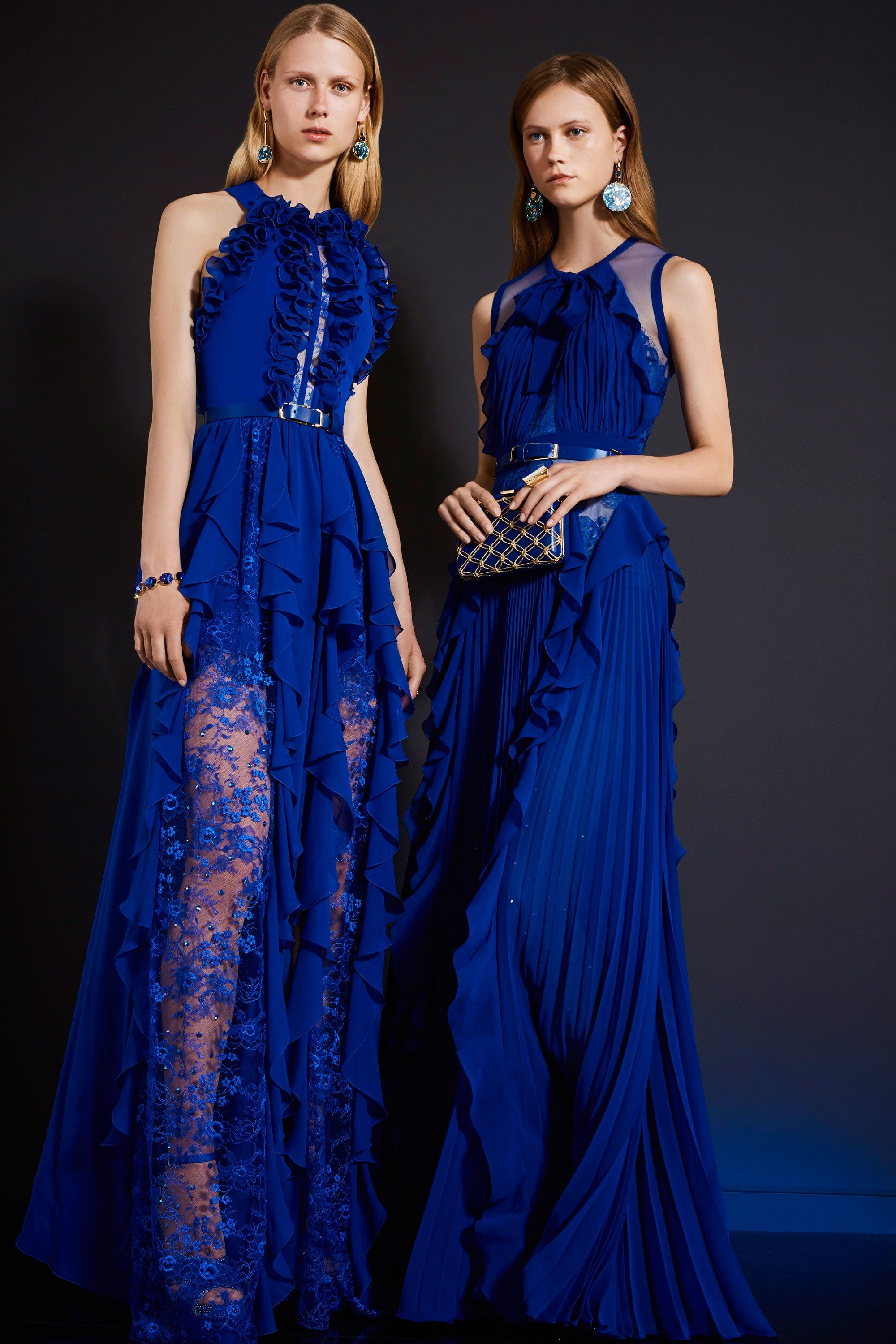 Elie Saab Woman Silk-chiffon Gown Cobalt Blue Size 34 Elie Saab Discount Shop Shop Cheap Online Free Shipping Factory Outlet yJj8Dq