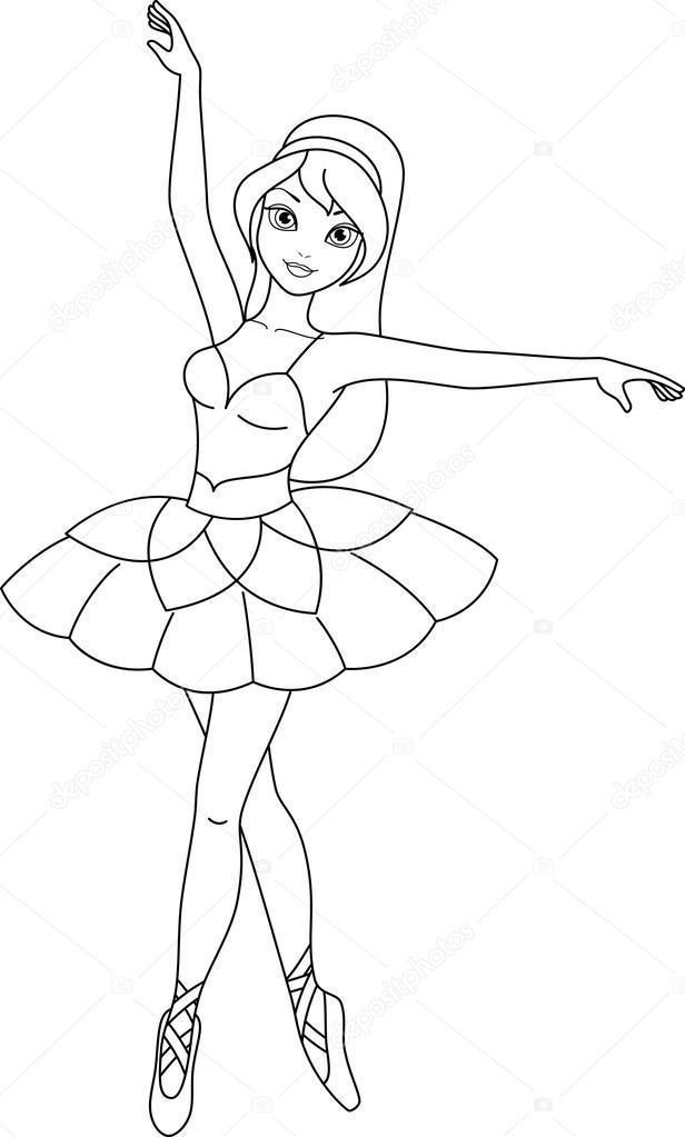 Ballerina Colouring Pages To Print