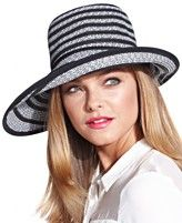 BCBGMAXAZRIA Exaggerated Stripe Floppy Hat