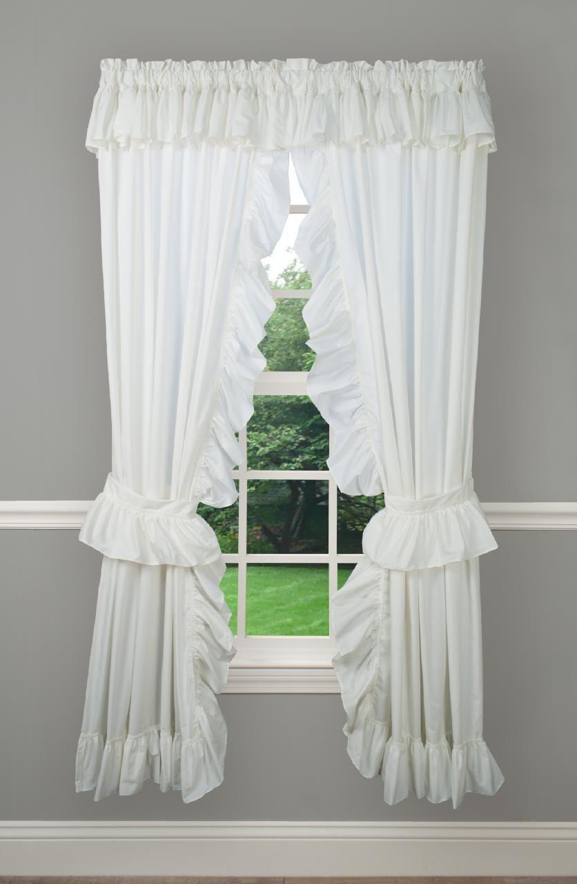 Classic Wide Ruffle Priscilla Curtains In 2020 Priscilla