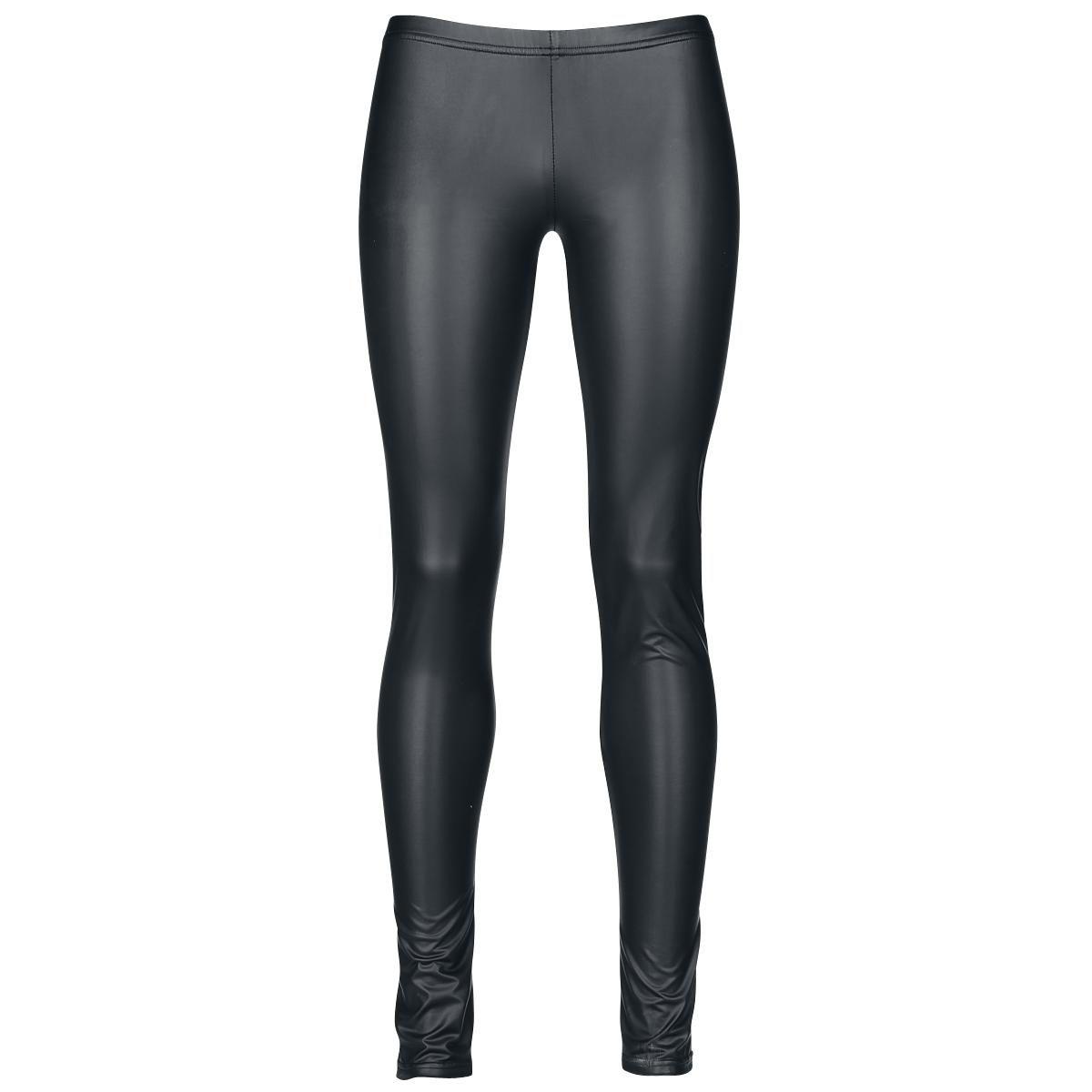 Kuka tarvitsee aitoa nahkaa? Nahkatyyliset leggingsit ovat ehdoton osa perusvaatevarastoa. Ne on helppo laittaa päälle ja näyttävään paitaan tai puseroon yhdistettynä legginsit sopivat joka tilanteeseen.