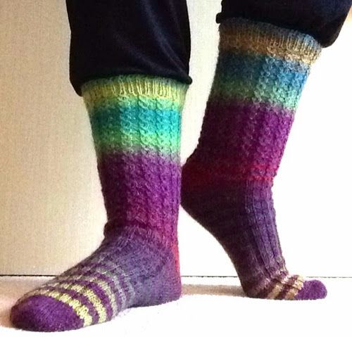 November 2013. Second pair of hand knit socks completed! #knitting