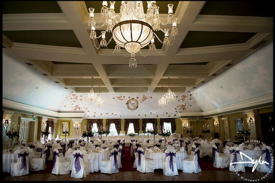 Beautiful Wedding Reception At The Great Hall In Galgorm Resort