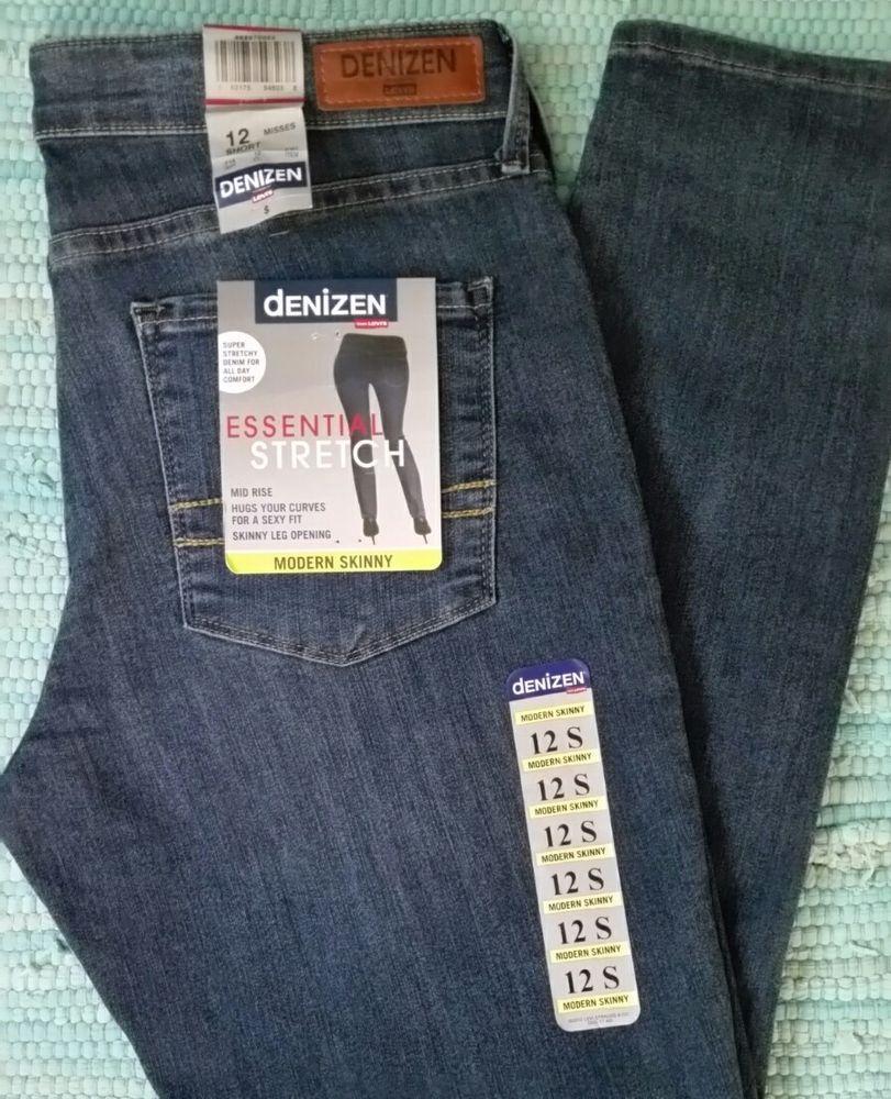 06f4d40a Denizen By Levi's Modern Skinny Size 12 Short Blue Jeans #Levis #SlimSkinny