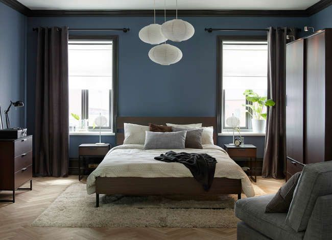 If you toss and turn at night, consider painting your walls a calming shade of blue to ease your mind and soothe you to sleep.