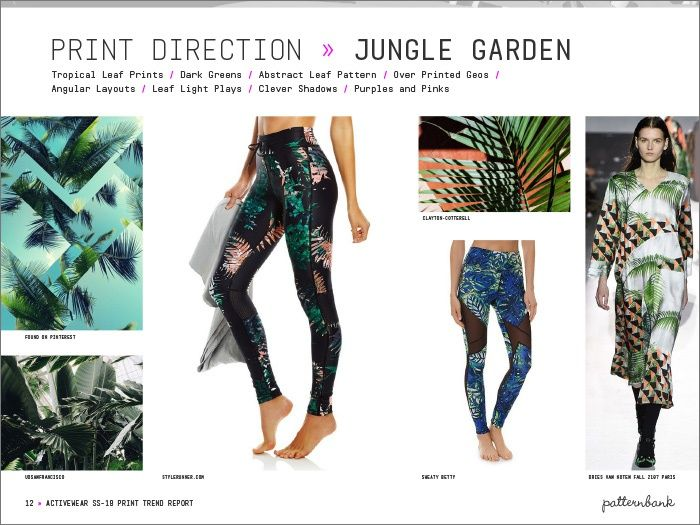 Activewear Print & Pattern Trend Report - Spring/Summer 2018 | Patternbank - Jungle Garden