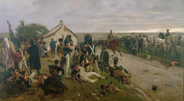 The morning of Waterloo on the Southern (French-occupied) side of the valley. Sunday, June 18th, 1815