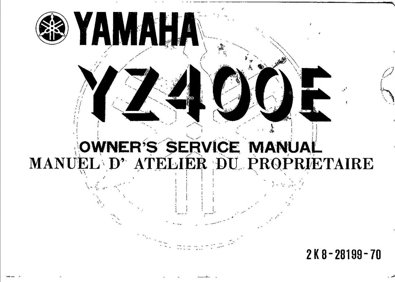 Yamaha YZ400 E 1978 Owner's Manual has been published on