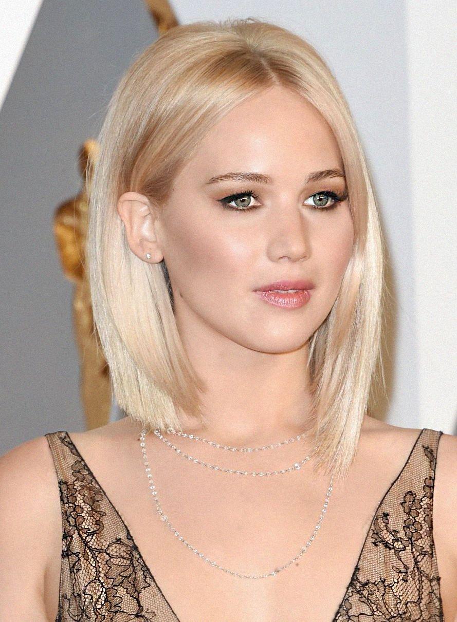 Jennifer Lawrence Short Straight Blond Bob Jennifer Lawrence Short Hair Jennifer Lawrence Hair Short Blonde Hair