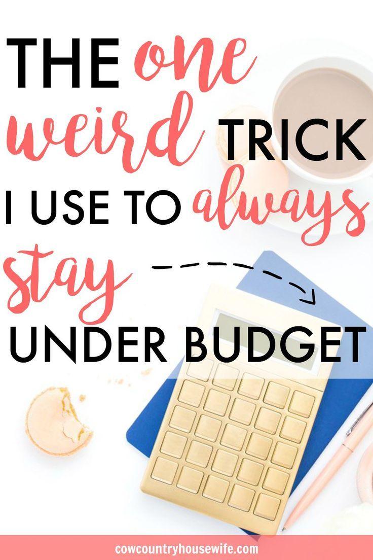 Der eine seltsame Trick, um IMMER unter dem Budget zu bleiben   – BEST Money Saving and Frugal Living Tips