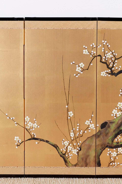 Japanese Four Panel Screen Ancient Sakura Cherry Blossom Sakura Cherry Blossom Sakura Tree Cherry Blossom