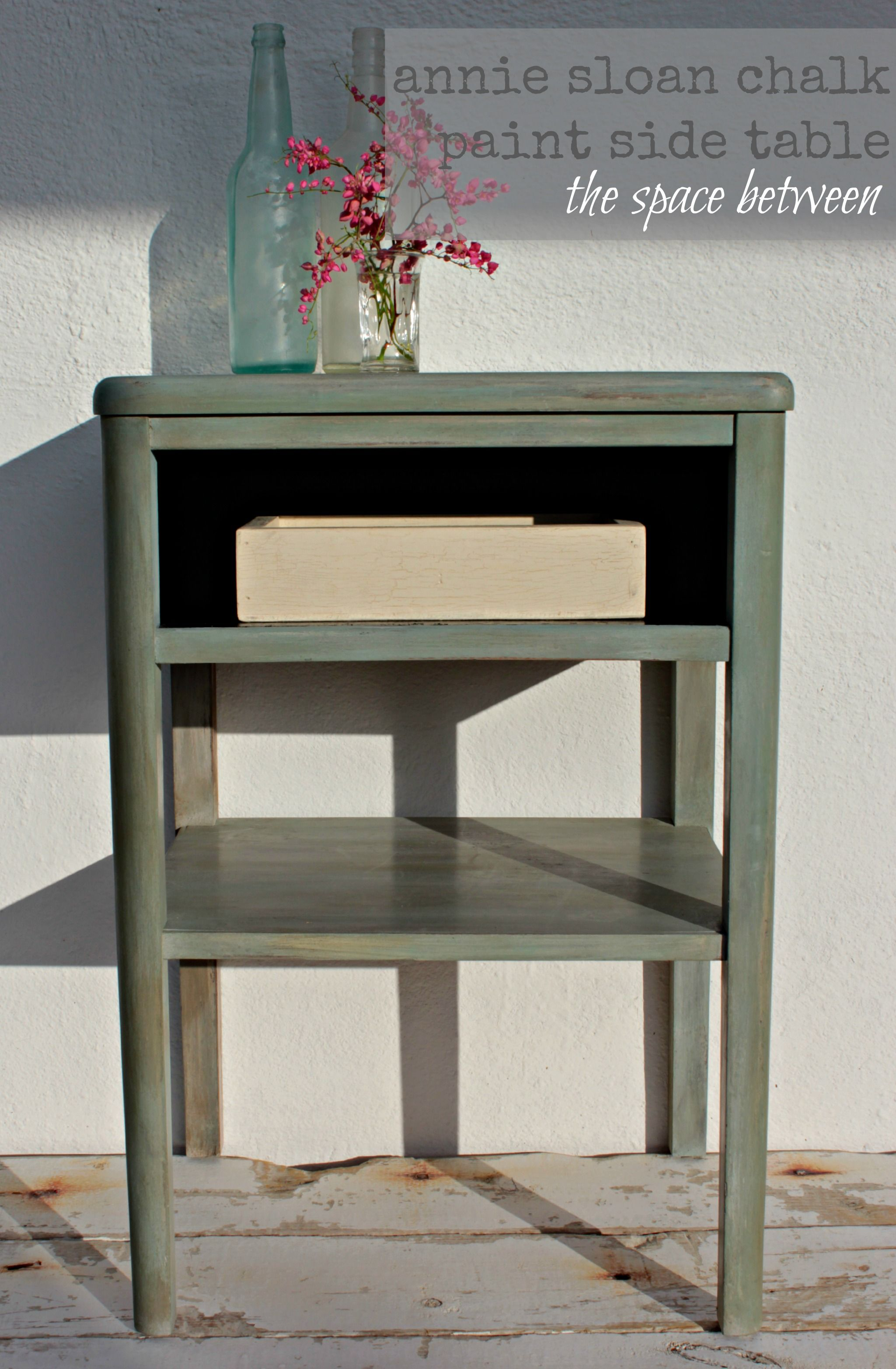 Annie Sloan Unfolded Chalk Paint Side Table Love This Layered Color Look Diy Furniture Spon