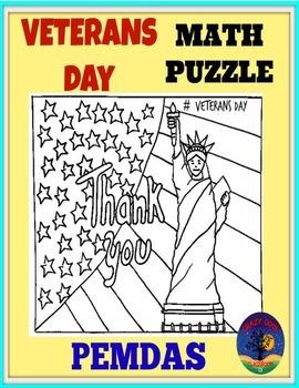 Veterans day math puzzle - pemdas