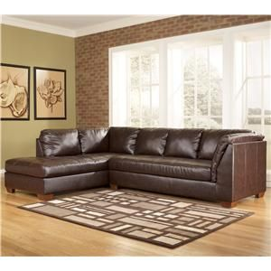 Durablend Mahogany Contemporary Sectional Sofa In L Shape With