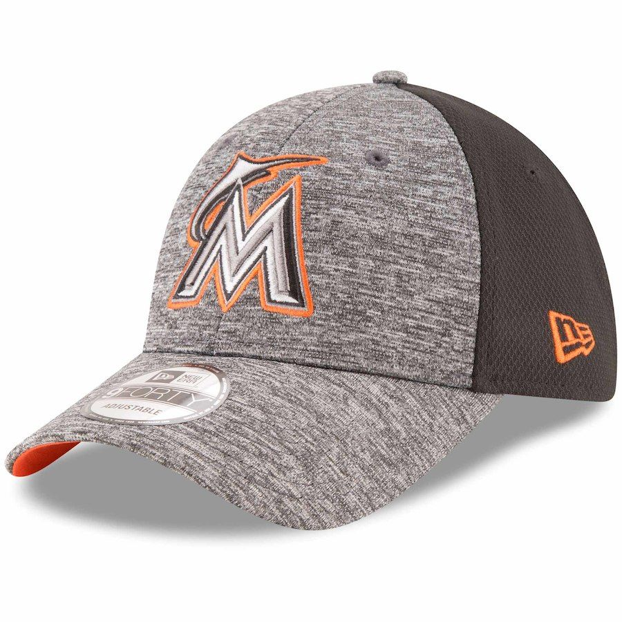 detailing 6c84e afef0 ... mlb team classic 39thirty cap for men lyst a5b09 f5d9b  where can i buy mens  miami marlins new era heathered gray black shadowed team logo 9forty