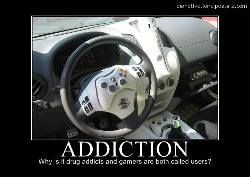 car humor posters | GAMING ADDICTION - motivational poster ...