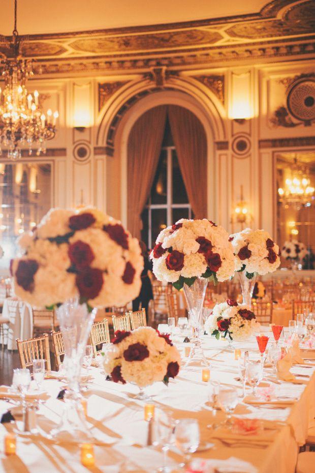 Red & Gold Ballroom Wedding Ballroom wedding Wedding