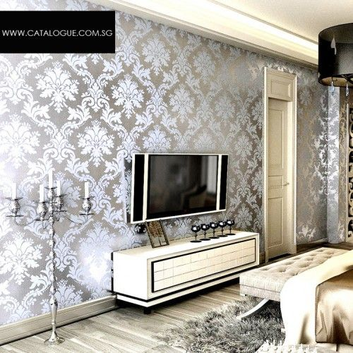Metallic Wallpaper Designs Home Decor Design Bedroom Decor